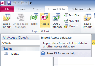how to import corrupt database to a new one?