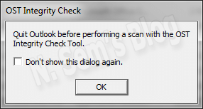 how to perform OST integrity check?