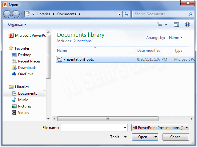 How to open and repair PowerPoint file?