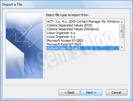 how to import PST to Outlook 2010