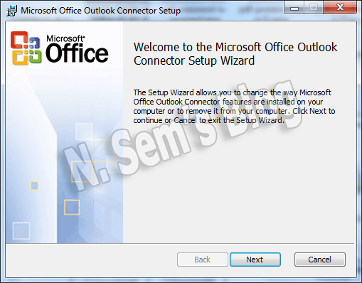 Microsoft Outlook Hotmail connector (step-1)