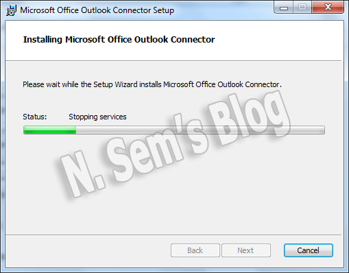 Microsoft Outlook Hotmail connector (step-2)