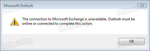 Microsoft exchange is unavailable