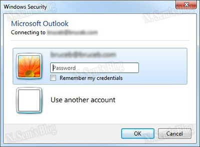 Outlook keeps asking for the user's password