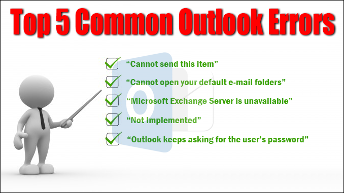 top 5 Outlook problems