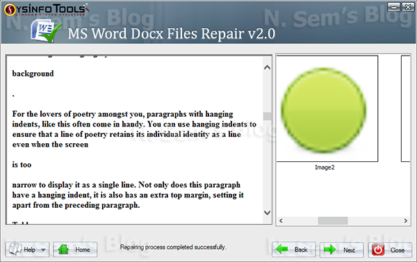 Word Repair tool from SysInfoTools