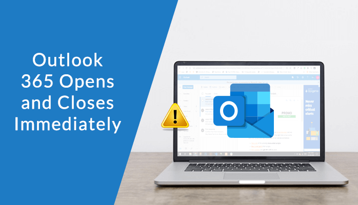 outlook 365 open and closes