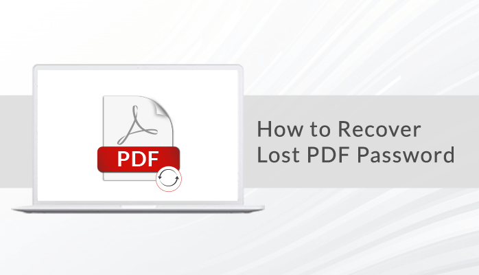 recover lost pdf password